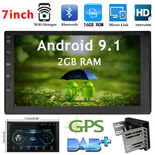 Android 9.1 Car Multimedia Stereo Player 7'' HD Screen GPS Nav WIFI FM Radio MP5