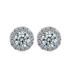 Women's Stud Earrings 18K White Gold Filled Jewelry Fashion Jewelry CZ