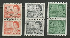 CANADA  COILS  #468A'B 549 PAIRS MINT USED