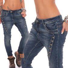 10784 Damen jeans Röhrenjeans Haremshose Hüftjeans Baggy Haremsjeans Boyfriend !