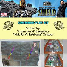 "HEROCLIX NICK FURY SHIELD OP KIT: Mapa/Map ""Hydra Island"" ""Nick Fury's Safehouse"