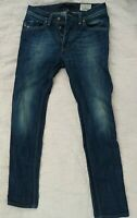 Men's DIESEL DARRON regular Slim-Tapered button fly jeans 29 x 32
