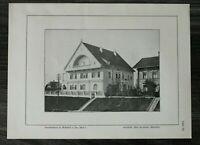 GFA) Blatt Familienhaus Mühldorf a Inn 1926 Architektur Max Kroneder München ++