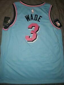 Miami Heat Dwyane Wade  *CITY* Vice wave Nike Swingman Jersey 3XL RARE