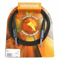 Whirlwind Leader Guitar Cable/Lead Str-Str 6ft Black. L06