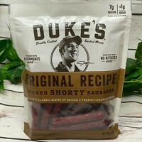 Duke's Smoked Shorty Sausages 16 Oz Original Recipe Pork Meat Spices Herbs Cured
