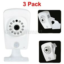 3 Wireless HD 720P Wi-Fi IP Security Camera Support SD Card 64G Record Night 1FN