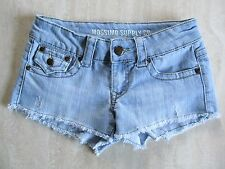 MOSSIMO Jr. Ladies Daisy Duke Cutoff Short SHORTS Sz 3/FIT 6 Pretty Buttons EUC!
