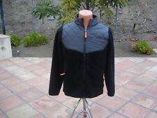 CHAMPION Youth Size XL 16-18 Unisex Zippered Fleece Jacket Black/Gray