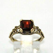 Granat  Ring   Granat  10K Gold  # 49  Antik Style