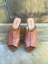 Miss Sixty Damien Sandals Shoes Women's Sz 38.5 Euro Brown Leather Wedge