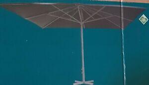 Schirm Sonnenschirm 4x4 m UV-Schutz Gastro Professional Marktschirm grau, Neu
