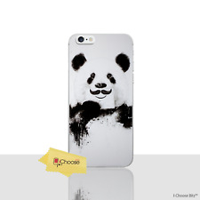 """Funny Animals Case/Cover Apple iPhone 6/6s (4.7"""") / Silicone / Panda Moustache"""