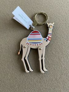 KATE SPADE SPICE THINGS UP CAMEL LEATHER KEY FOB KEYCHAIN BAG CHARM
