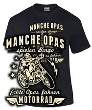 Opa T-Shirt MANCHE OPAS SPIELEN BINGO ECHTE OPAS FAHREN MOTORRAD Geschenk