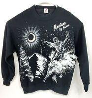 Vintage Big Mountain Whitefish Resort Ski Montana Sweatshirt Mens XXL Big Print