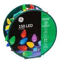 GE Energy Smart 150-Count C6 49.6-ft Multicolor LED Christmas String Lights