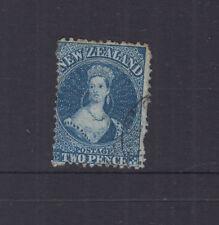 NZ 1865 2d Deep Blue CHALON p12½ wmk star SG114 cat £22 FU-VFU