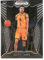 2019 Prizm Draft Picks Basketball #39 Justin James Rookie Card Wyoming Cowboys