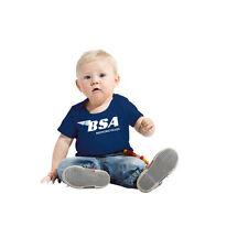 T-shirt bébé marqué BSA, moto , vintage, biker,  enfant taille 68/74  80/86 NEUF