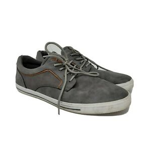 Aldo Mens Gray Solid Low Top Round Toe Lace Up Casual Sneakers Shoes 10.5