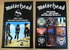 Lemmy Kilmister MOTORHEAD PROMO POSTER 2015 reissued Vinyl LP & CD USA 11 x 17