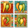 Absorbent Stone Coasters-Set of 4-Fiesta Peppers #1049