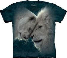 The Mountain Unisex Adult White Lions Love Animal T Shirt X-large 1059373