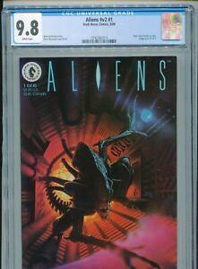 1989 DARK HORSE COMICS ALIENS V2 #1 CGC 9.8 WHITE BOX3