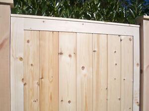 PREMIER PANELLED Wooden Pedestrian Garden Side Gates - HEAVY DUTY Solid Boarded