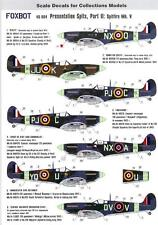 Foxbot Decals 1/48 PRESENTATION SPITS Part 2 SPITFIRE MK.V