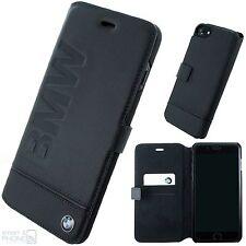 BMW Echtleder Handy Cover iPhone 7, 6 Book Case Schutzhülle Tasche Cover schwarz