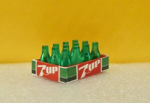 Two(2) VINTAGE 1980' 7UP CASES 12 BOTTLES  each 1:12  SCALE DOLLHOUSE  DIORAMA !