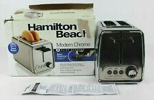 Hamilton Beach Toaster 22785 Modern Chrome 2 Slice Extra-Wide Slots Defrost