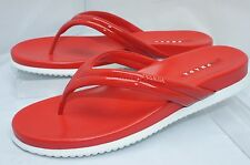 New Prada Women's T Strap Flip Flop Red Sandals Size 37 Thongs Calzature Donna