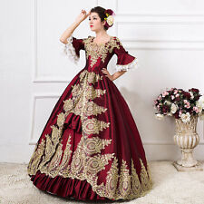 Women Medieval Victorian Renaissance Gothic Palace Halloween Gorgeous LaceDress