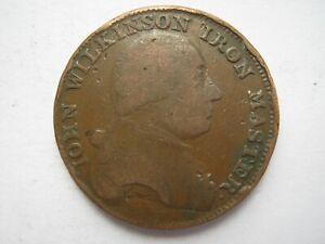 Warwickshire John Wilkinson Iron Master Halfpenny token F D&H 353