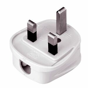3 Pin UK Mains Plug Rewireable 3A 5A 10A 13A Fused Plastic Household Power Plug
