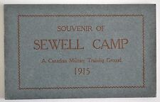 WW1 WWI Canadian Military Training Ground Photograph Booklet Camp Sewell 1915