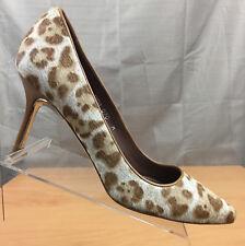 Donald J Pliner Treva Summer Leopard Print Haircalf Pump Sculpted Heel Sz 7 M