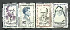 """France 1961. Complete Set 4  new stamps **  """"Heroes of the Resistance""""   (3922)"""