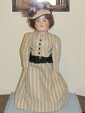 """Antique 25"""" Doll  Marked Germany 1001-4 Bisque Head w/Compo Ball Jointed Body"""