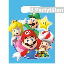 Super Mario, Mitgebseltüten, 8 Kindergeburtstag Partytüten