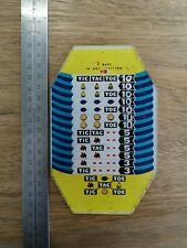Original Jennings Slot Machine Reward Card tic tac toe