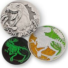 Bone Wars Dinosaurier Geocoin Geocaching Dino Trackable Coin Skelett