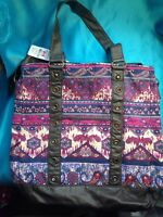One Claire's Berry Color Boho Print Tote Bag Purse Handbag New with tags