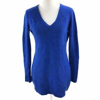 Antonio Melani Women's 100% Cashmere Royal Blue V-Neck Sweater Sz M