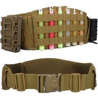 Tactical Battle Belt Military Airsoft Width Combat Molle Waist Padded Belts US
