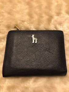 Authentic Hazzys Womens Card Holder Wallet Two Tone Leather, Blue
