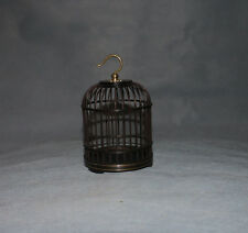 display China black hard wood round ebony small Cricket cage w copper holder #4